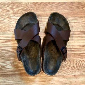 Betula by Birkenstock Brown Cross Cross Sandals